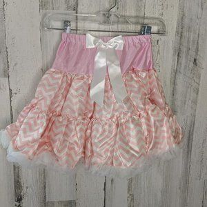 Pink and Peach Chevron Tutu with Bow